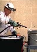 Drum Mates Inc DM85C Air operated drum pump gently pressurizes drum at 4 - 7 psi. Installs quickly in 2