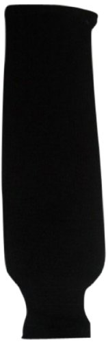 DoGree Hockey Solid Color Knit Hockey Socks, Black, Adult/32-Inch