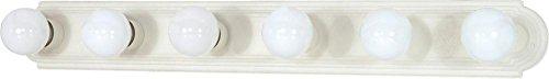 Nuvo 60/314 36-Inch Six Light Vanity Strip, Textured White
