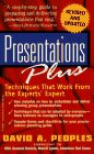 Presentations Plus, David A. Peoples, 047117730X