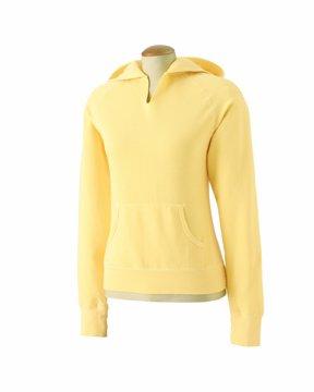 Comfort Colors C1595 Womens Front-Slit Hooded Fleece - Butter - 2XL