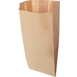 imballaggi2000 Sacchetti / Buste Carta Avana 12X24 pz 1000 3, 5 kg Idionei Contatto Alimentare
