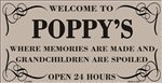 (Smart Blonde LP-4463 Welcome To Poppys Metal Novelty License Plate)