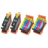 Generic  4-Pack Compatible Dell Series 21 Y498D (GRMC3) and Y499D (XG8R3)