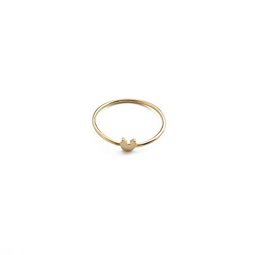 Ring Gold Plate - HONEYCAT Tiny Cat Ring in 24k Gold Plate, 18k Rose Gold Plate, or Sterling Silver Plate | Minimalist, Delicate Jewelry (Gold)