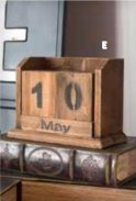 Perpetual Desk Calendar Vintage Reclaimed Wood - Hill Home Office Collection