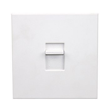 Lutron NT-1500-WH Nova T Incandescent Dimmer Single-Pole 1500W Slide-to-Off Dimmer, White