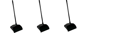 Rubbermaid Commercial 253100BK Lobby Pro Upright Dustpan, w/Wheels, 12 1/2 '', Polypropylene w/Vinyl Coat, Black (3 Dustpans) by Rubbermaid Commercial Products