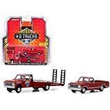 New DIECAST Toys CAR Greenlight 1:64 HD Trucks Series 14-1971 Chevrolet C-30 RAMP Truck & 1968 Chevrolet C-10 (RED) 33140-A