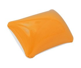 Playa almohada - hinchable - PVC naranja/Blanco - 35 x 27 cm ...
