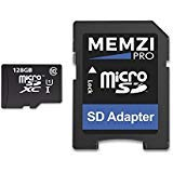 MEMZI PRO 128GB Class 10 80MB/s Micro SDXC Memory Card with SD Adapter for Motorola Moto G5, G5 Plus, G4 Play, G4 Plus, G4 Cell Phones