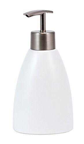 Kiera Grace Cleo Ceramic Lotion Dispenser, Matte White