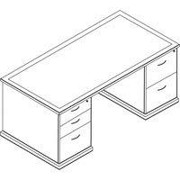 Office Star Mendocino Double Pedestal Desk, 72