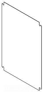 Hoffman CP4836 Panel, Steel, Fits 48.00'' x 36.00'', 46.20'' x 34.20'', White