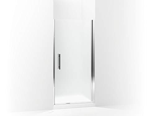 Sterling 5698-39S-G03 Finesse Peak Frameless Pivot Shower Door with Frosted Glass, 39-in W x 67-in H, Silver