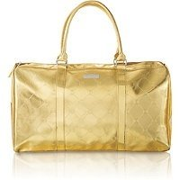 Image Unavailable. Image not available for. Color  BCBGMaxazria Womens Gold  Metallic Overnight Weekender Duffle Gym Bag Tote 6684a03a283a8