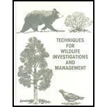 Techniques for Wildlife Investigations and Management 9780933564152