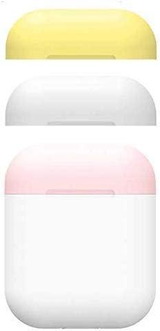ZON Estuche Airpods, Estuche de Piel de Silicona con Estuche Apple Airpods 2/1 Candy Color Charging. [3 Tapas y 1 Cuerpo] (Blanco): Amazon.es: Deportes y aire libre