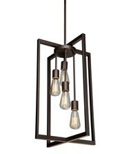 Artcraft Lighting Gastown 4-Light Mini Pendant, Oil Rubbed Bronze -