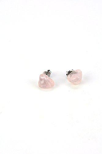 Quartz Earrings Bead Rose (Rose Quartz Post Earrings)