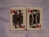 Poker Cards Salt and Pepper Shaker Set