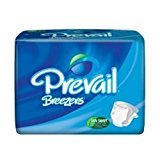 Pull Prevail (Prevail Breezers Ultimate Absorbency Incontinence Briefs, Large, 18-Count)