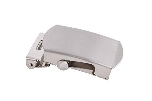 shenky hochwertige Schnalle für Stoffgürtel und Militärgürtel mit 4cm Breite (Silber)