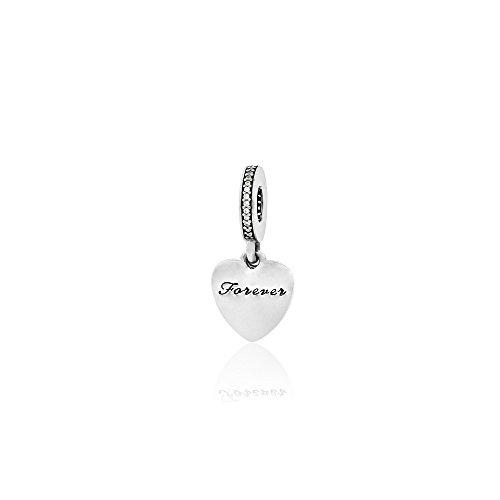 Pandora Love You Forever Charm, Clear CZ 792042CZ by PANDORA (Image #1)