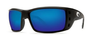 Costa Del Mar Permit Sunglasses, Black, Blue Mirror 400 Glass Lens ()