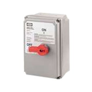 UPC 783585372723, Hubbell Wiring HBLDS10VFD Circuit-Lock Non-Metallic Non-Fusible Disconnect Safety Switch 100 Amp NEMA 4/4X/12