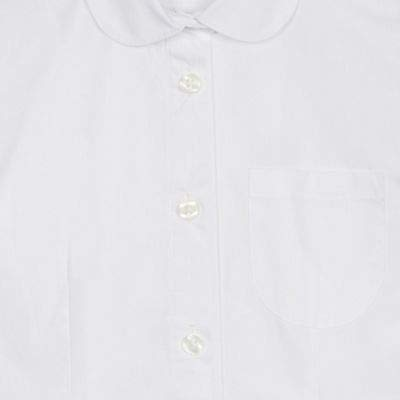 Debenhams Kids Pack of 2 Girls White Short Sleeve Blouses Age 4