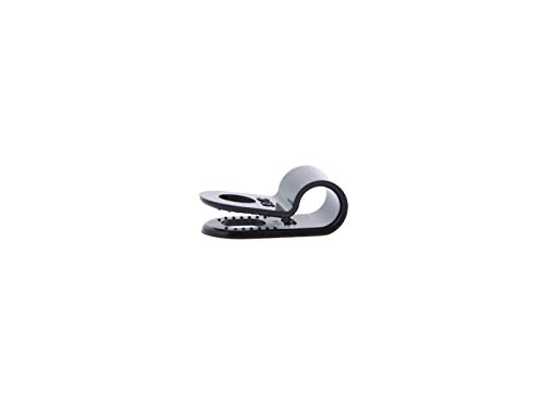3/16 Inch UV Black Cable Clamp - 100 Pack