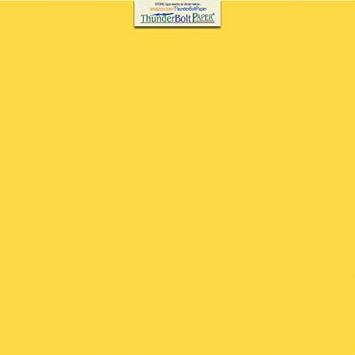 50 Bright Golden Yellow Color Cardstock 65lb Cover Paper - 12