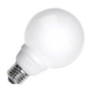 - TCP 8G2508WH Cold Cathode Decorative G25-40 Watt eq. (only 8w used) Soft White (2700K) Medium Base White Globe Light Bulb (300 Lumens)