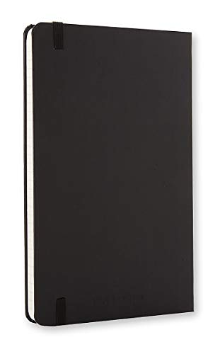 """Moleskine Classic Hard Cover Notebook, Ruled, Large (5"""" x 8.25"""") Black - Hard Cover Notebook for Writing, Sketching, Journals"""