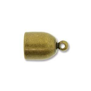 (Antique Brass Bullet End Cap 6mm)