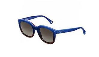 9fcb250b07 Image Unavailable. Image not available for. Colour  Coach Sunglasses -  Casey   Frame  Blue Red Gradient Lens  Grey Gradient