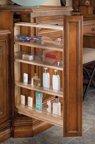 Vanity Base Cabinet Fillers, 3''W x 19''D x 26''H, Zinc/100 lb, Wood