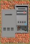 Heaters Water Tankless Ruud - Rheem RTG20226 RTG20226-Tankless Recess Box Kit-RTGH-199