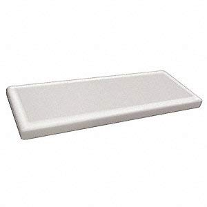 Plastic Tank Cover, White, for Use with Universal (Universal Toilet Tank Lid)