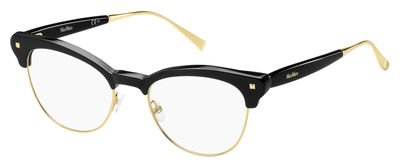 Max Mara - MM 1271, Cat Eye, acetate, women, BLACK GOLD(MDC), - Max Mara Mens