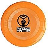(EVALY Black Lives Matter Fist Logo 150 Gram Ultimate Sport Disc Frisbee Orange)