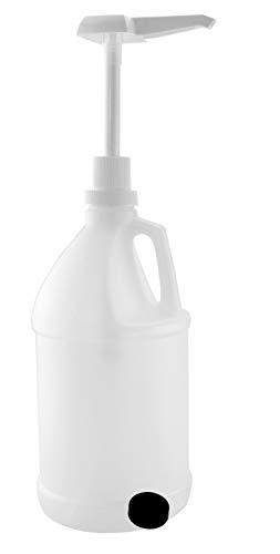 Half Gallon Jug w/Pump; 64-Ounce/2 Quart Bottle w/Lotion & Liquid Pump Top for DIY Hot Sauce Woozy Bottle Filling, Liquid Soap, Etc, Storage Lid Included