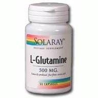 Solaray - L-glutamine, 500 mg, 100 capsules