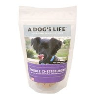 - A DOGS LIFE Cheeseburger Dog Treats, 8 OZ