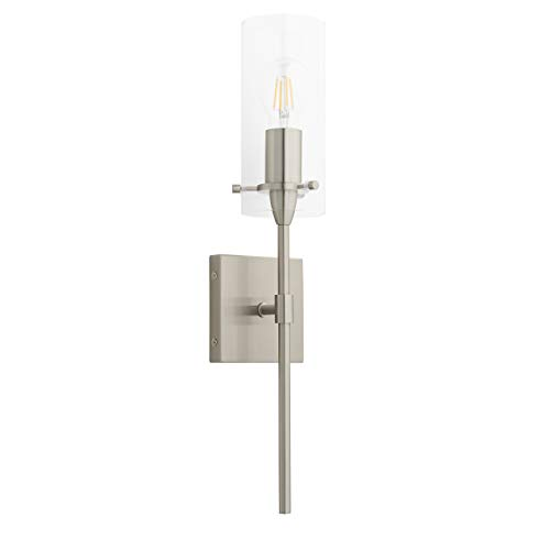 Contemporary Bathroom Sconces - Effimero Wall Sconce | Brushed Nickel Vanity Light Fixture WL31-BN