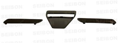 SEIBON 08-09 Lancer EVO X Carbon Fiber Hood Scoop OEM Evo 8 Seibon Carbon Fiber