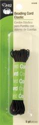 Dritz Bulk Buy Beading Cord Elastic 5 Yards Black (3 Pack)