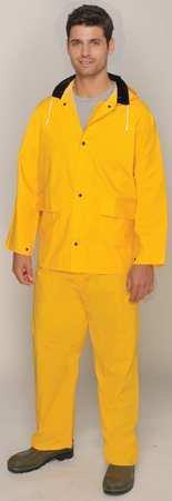 (3 Piece Rainsuit, Detach Hood, Yellow, 3XL)