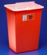 PT# -31156550 PT# # 31156550- Container Sharps-A-Gator Large Red 7gal Ea by, Kendall Company